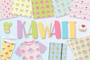 Kawaii (patterns, elements)