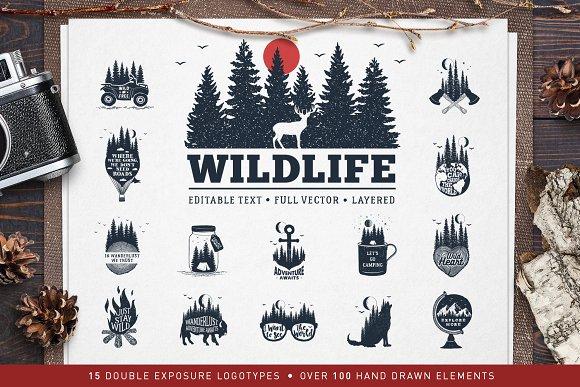 WildLife 15 Double Exposure Logos