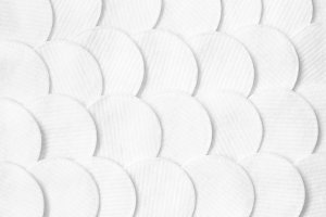 Cotton pads pattern. White abstract