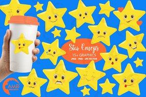 Clipart Star Emoji AMB-1157