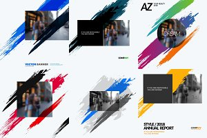 Set of abstract vector design elements for graphic poster