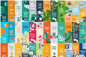 Flat infographic banners set 2