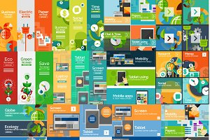 Flat infographic banners set 3