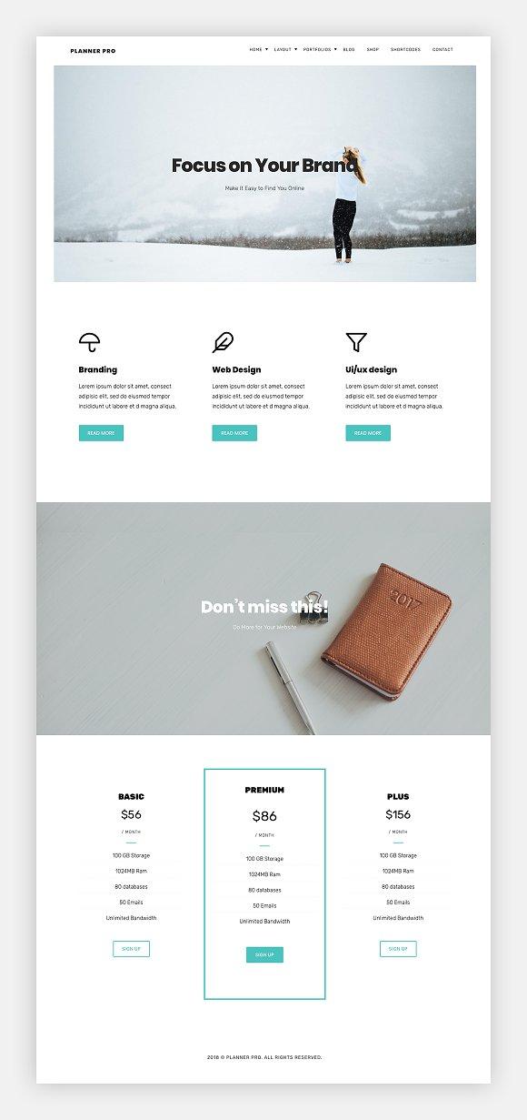 Planner Pro Multipurpose Theme