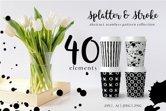 Paint Splatter & Stroke Patterns