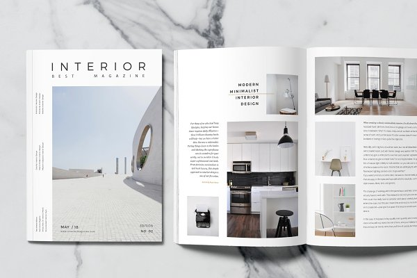 Magazine Templates: rubirubiko - Minimal Interior Magazine