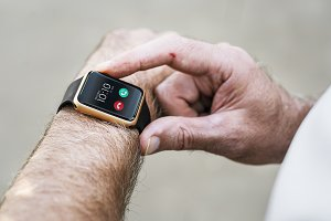 Closeup of smartwatch (PSD)