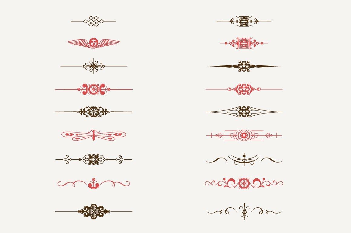 Decorative Text Dividers N1 Illustrations Creative Market