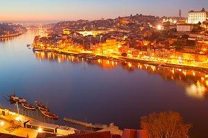 Porto at dusk, Portugal