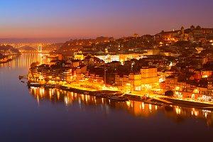 Porto romantic skyline, Portugal