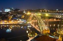 Dom Luis bridge illuminated