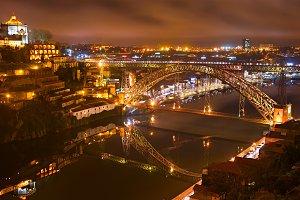 Dom Luis bridge at night