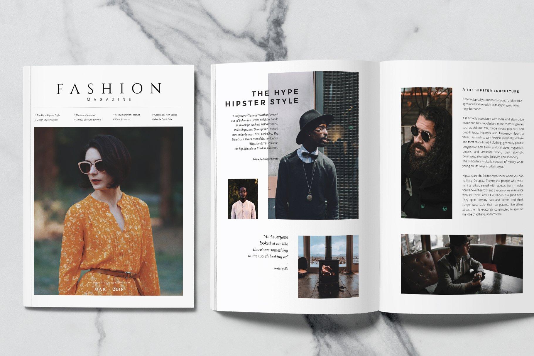 Fashion Magazine ~ Magazine Templates ~ Creative Market