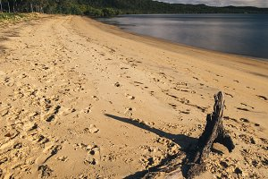 Adams beach on Stradbroke Island, Qu