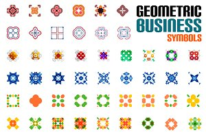 Geometric business symbols set 5