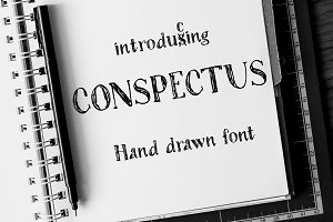 Conspectus | Ink Pen Font