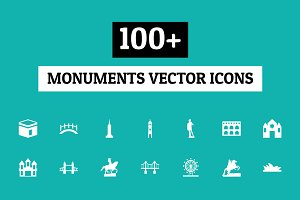 100+ Monuments Vector Icons