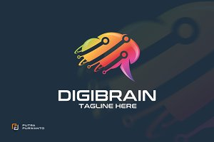 Digibrain - Logo Template