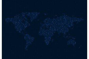World Map. Data visualization.