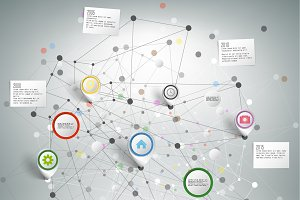 Infographic network