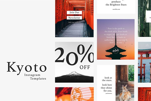 KYOTO Instagram Templates Pack