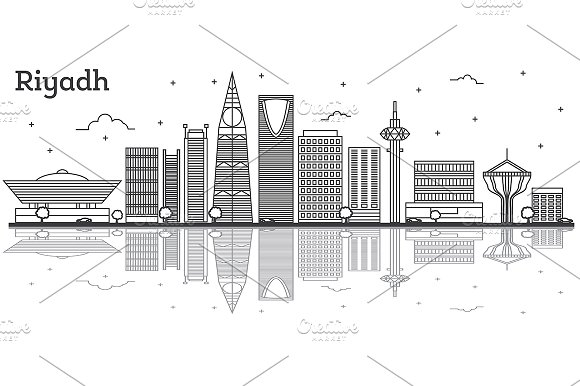 Outline Riyadh Saudi Arabia City