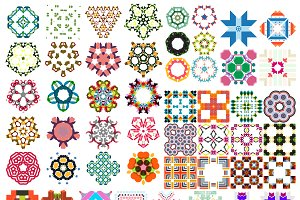 Abstract vector patterns set 3