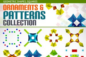 Abstract vector patterns set 4