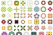Abstract vector patterns set 5