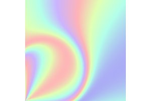 Hologram gradient backgrounds. Colorful holographic abstract vector.