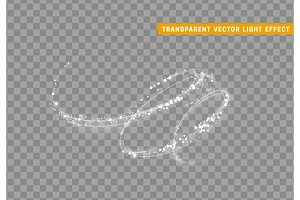 Magic light effect. Stardust white glitter. Sparkle star dust vector illustration