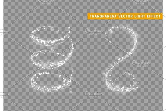 Magic light effect. Stardust white glitter. Sparkle star dust vector illustration