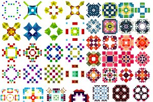 Abstract vector patterns set 6