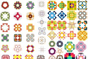 Abstract vector patterns set 7