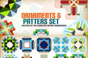 Abstract vector patterns set 8