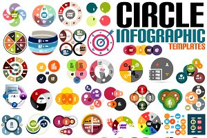 Circle infographic templates set