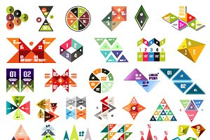 Mega set of infographic designs