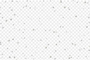 Element decoration white beads on transparent background