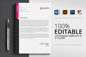 Letterhead Print Templates with Word