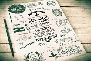 HandDrawn Logos & Ornaments Pack