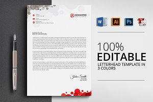 Letterhead template with 4 Formats
