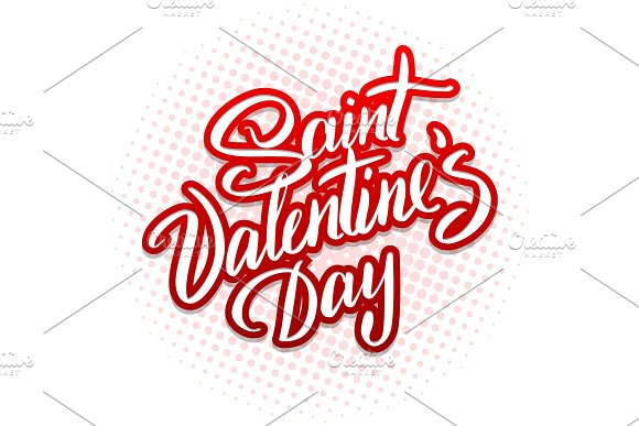 Valentine hand lettering vector illustration