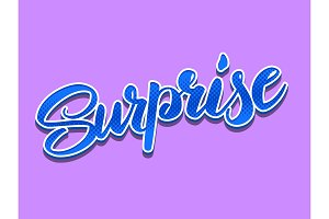 Surprise hand lettering vector illustration