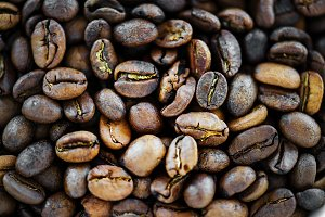 Coffee Beans in Macro Shot