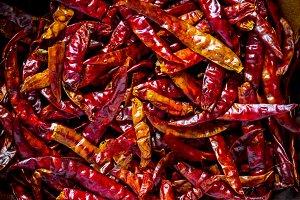 Closeup of dry chili