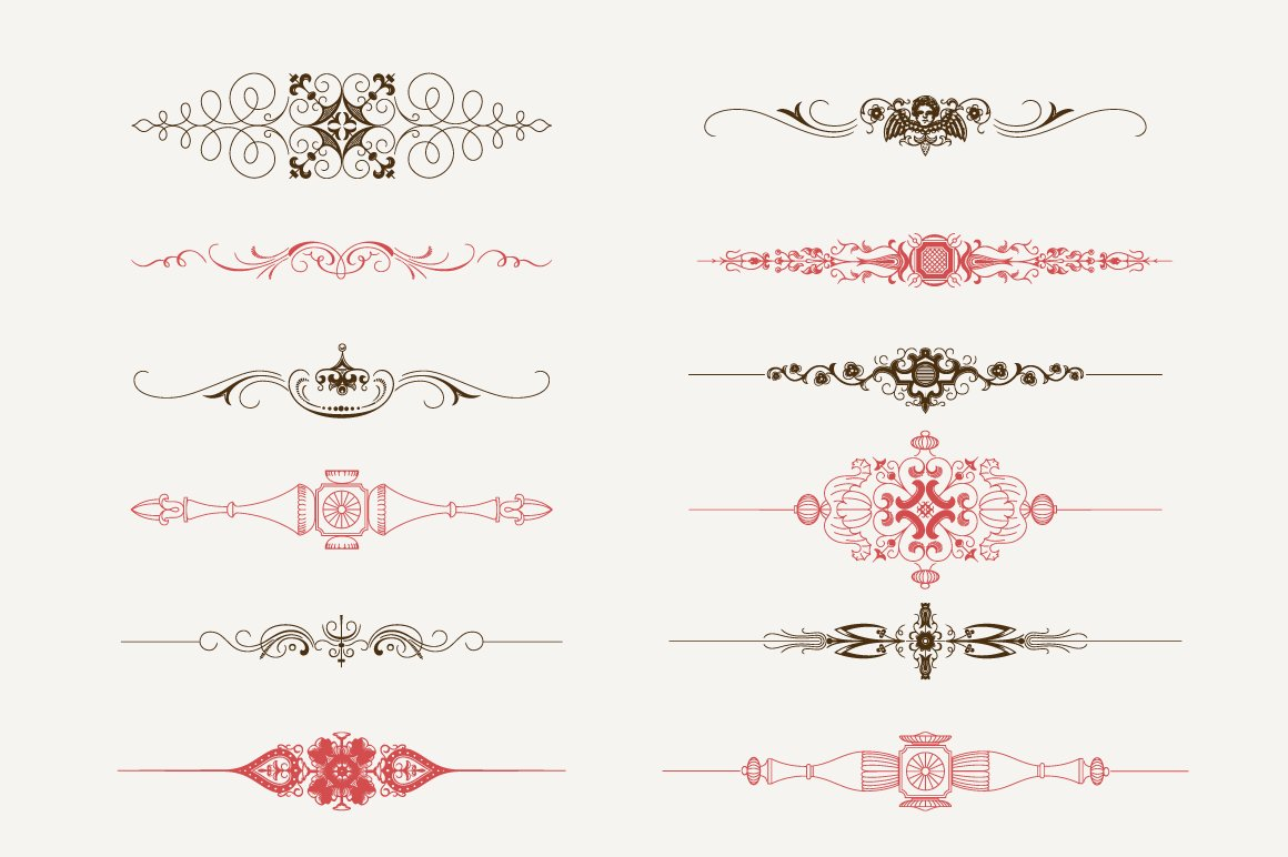 Decorative text dividers n 3 illustrations creative market for A text decoration