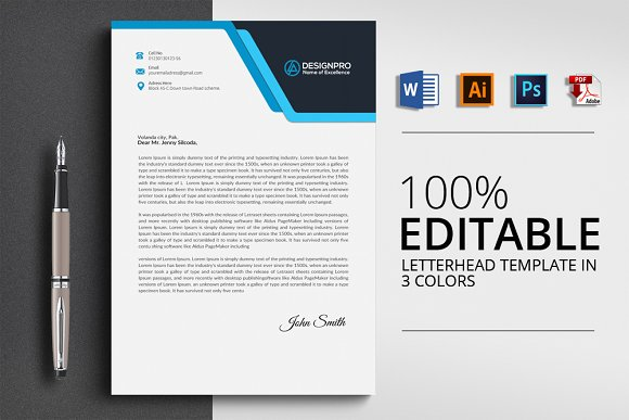 professional letterhead templates stationery templates creative