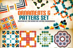 Abstract vector patterns set 9