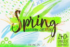 Spring - Watercolor pattern creator
