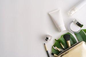 Cosmetic in blank label for mockup.